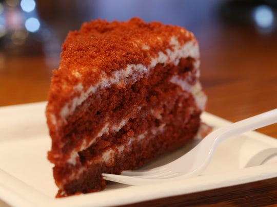 The red velvet cake from the Matchbox Cafe in Rhinebeck on June 14, 2018.