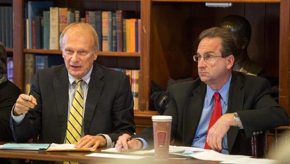 Sen. Robert Marshall, left, D-Wilmington West