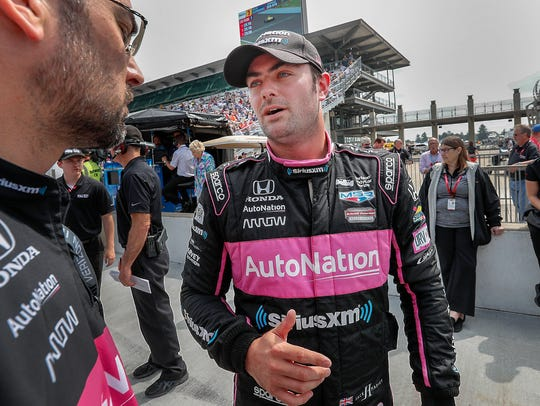 Meyer Shank SPM Racing IndyCar driver Jack Harvey (60)