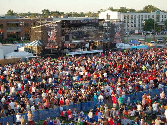 Red White and Blue Ash traditionally draws more than 100,000 people.