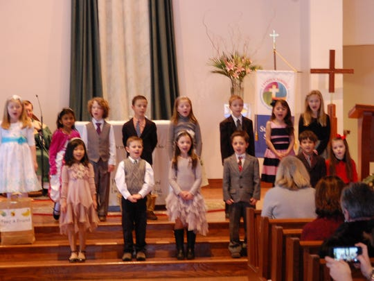 St. Joseph School's first grade class hosted a mass and presented readings and a song to the congregation during Catholic Schools Week.