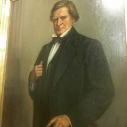 This bust of respected lawyer Jeremiah Sullivan Black is pictured in this 2010 photo in the York County Judicial Center. Black built the original Brockie Mansion in the hills south of York. He held two positions in the cabinet of U.S. President James Buchanan.
