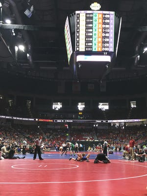 The 96th edition of the state wrestling tournament is underway at Wells Fargo Arena.