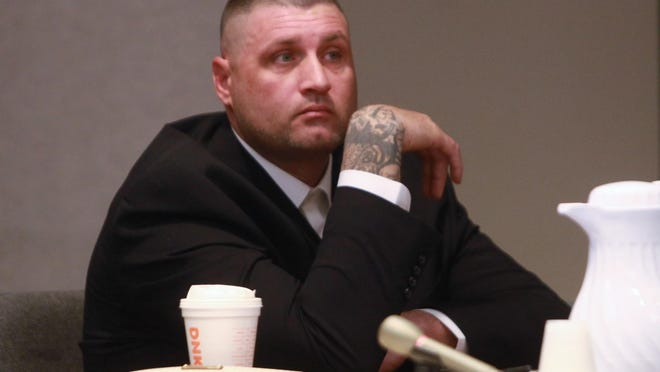 Christopher Banta appears in state Superior Court in Sussex County in March.