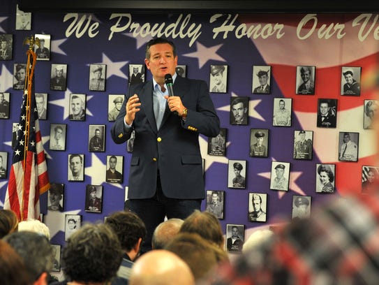 United States Senator, Ted Cruz, spoke to a crowd of