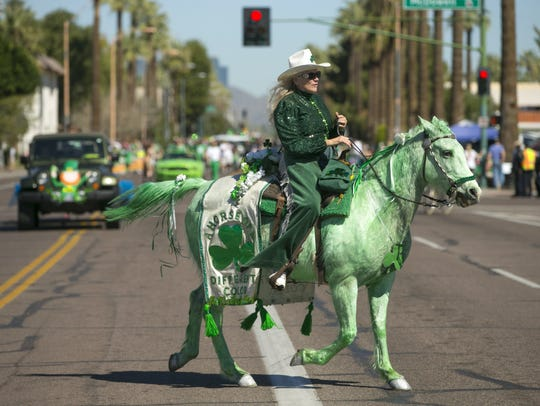 Joyce Clark rides her horse, Penny Rose, during the