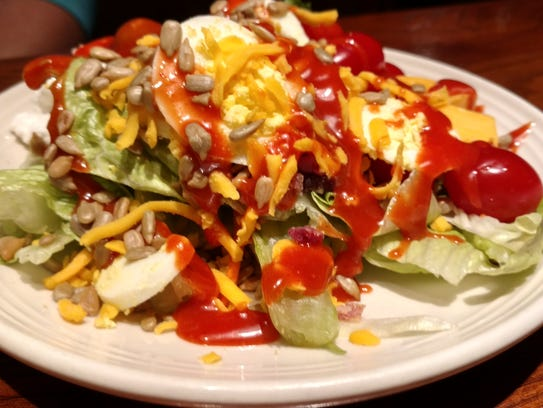 Salad from Chicago Speakeasy's famous salad bar.