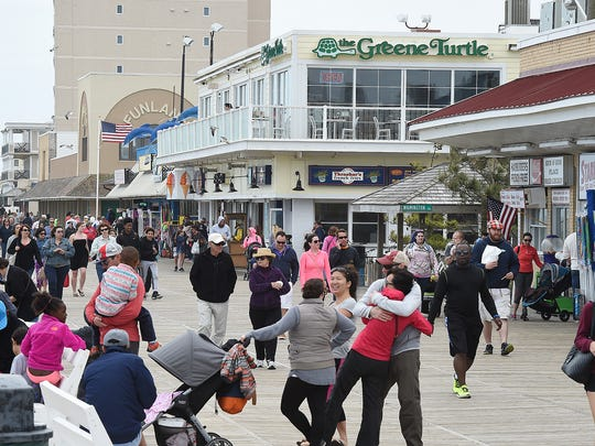 Cool and windy weather held back the beach crowds,