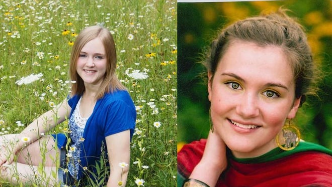 Amanda Thomas and Elizabeth Thill of Peshtigo High School.