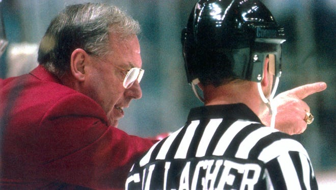 Jeff Sauer coached the Wisconsin men's hockey team from 1982-2002.
