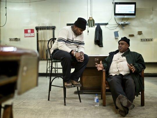 Tony Bean, left, 64, of Detroit, the owner of Bill's