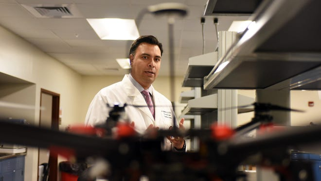 William Carey's Dr. Italo Subbarao speaks about the telemedical drone called  HIRO. The drone is designed to carry an advanced medical kit to areas where emergency personnel may not be able to reach.