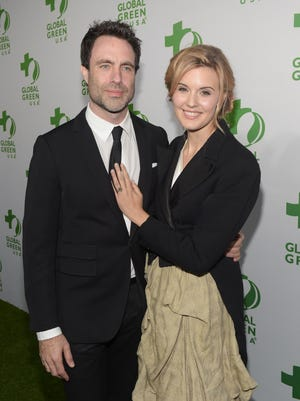Matthew Cooke and Actress Maggie Grace attend Global Green USA's 12th annual pre-Oscar party at AVALON Hollywood on February 18, 2015 in Hollywood, California.