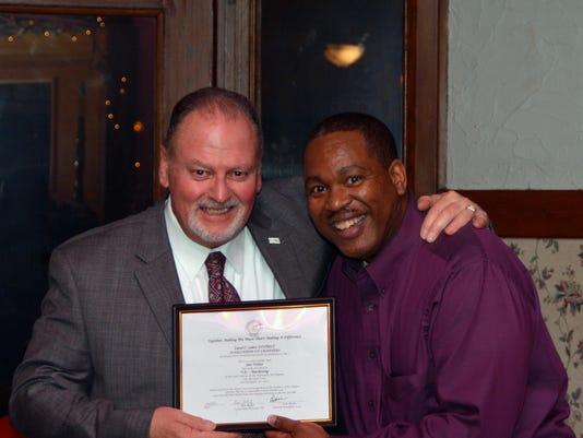 President Jim Weber {left) and Ken Bester (Appleton WI) - VP Packerland Div