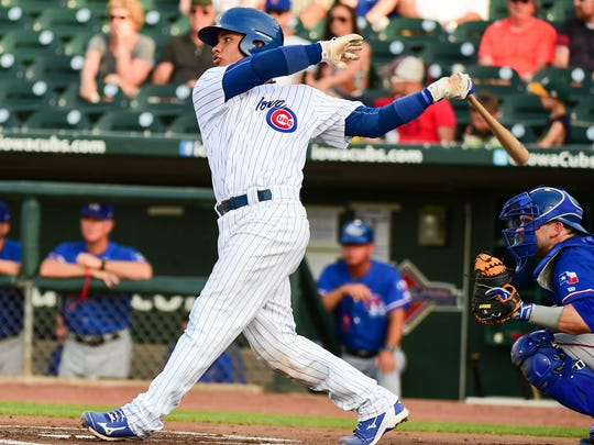 Iowa Cubs catcher Willson Contreras (40) has been called up to Chicago