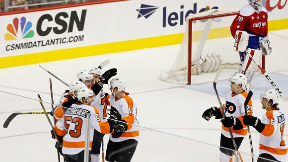 Jake Voracek had a pair of goals for the first time all season.