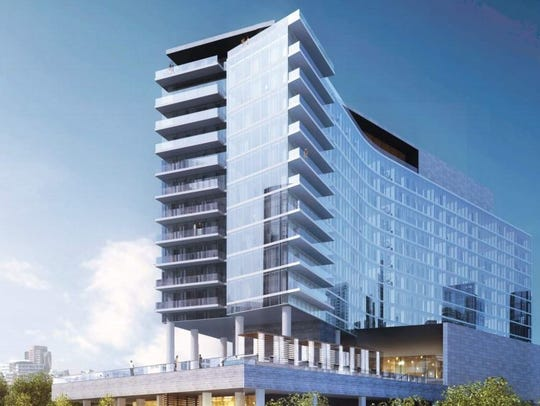 A rendering of the W hotel planned in The Gulch.