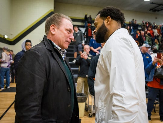 Michigan State University basketball coach Tom Izzo,