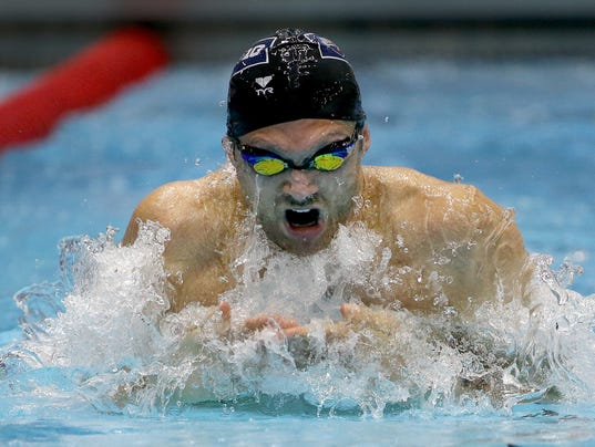 In Rio rematch, IU's Miller 2nd to British breaststroker