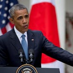 President Obama speaks about recent unrest in Baltimore during his joint news conference with Japanese Prime Minister Shinzo Abe on Tuesday.