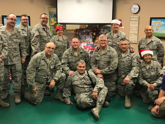 Members of the Texas State Guard recently delivered