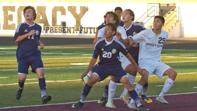 Snow Canyon forward Kevin Guevara Chillin lead his team to victory Friday night with two goals against Pine View.