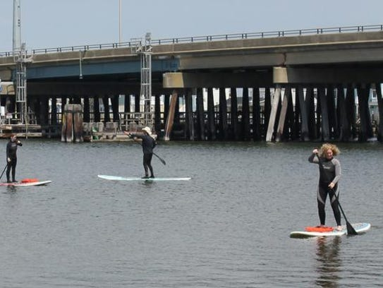 Surf Unlimited taught paddle boarding Saturday at the