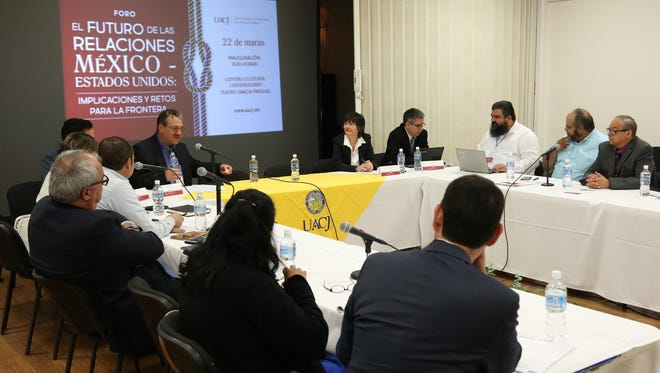 """Anthropologist Josiah Heyman, director for the Center for Inter-American and Border Studies at the University of Texas at El Paso, and other border experts attended """"The Wall, Remittances and Deportees"""" workshop in Juarez last week."""