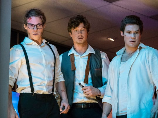 "Blake Anderson (from left), Anders Holm and Adam DeVine in star in ""Game Over, Man!"""
