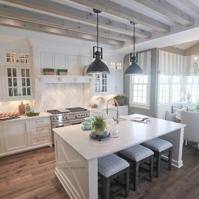 Coastal meets Southern rustic in this elegant Goshen estate