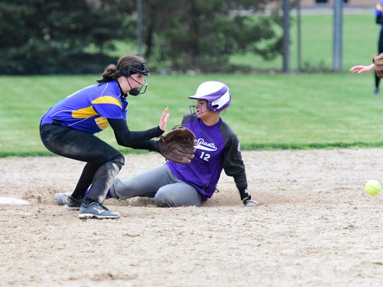 Most of Braelyn Horn's steals were of second base for Fremont Ross. About 10 of Horn's 30 steals came at third.