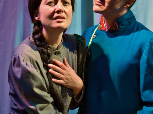 """Megan McQueen and Isaac Quiroga star as Fosca and Georgia in  Scaffording Theatre Company's production of Stephen Sondheim's """"Passion."""" Perfomances will be today, Saturday and Sunday at the Rio Grande Theatre."""