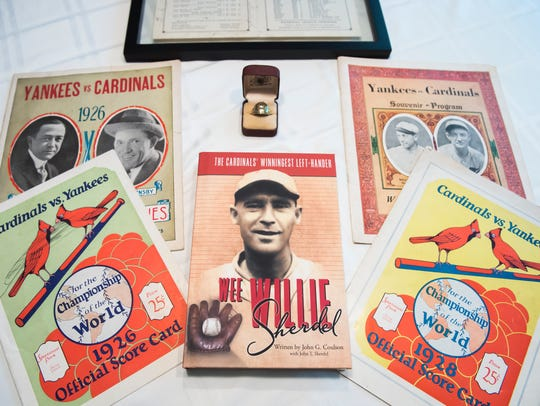 "Penn Township resident John Coulson's new book, ""Wee Willie Sherdel: The Cardinals' Winningest Left Hander."" Sherdel's pitching career spanned from 1916 to 1932, and he competed in two World Series with the St. Louis Cardinals."