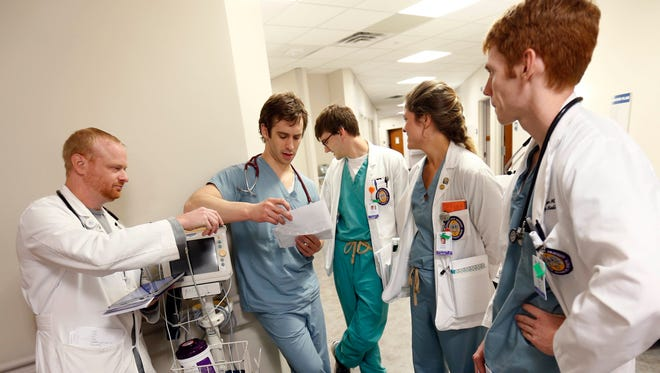 Medical residents and students in Baton Rouge, La.
