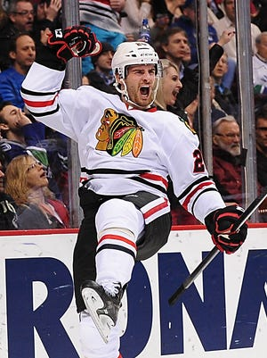 Brandon Saad had two goals and an assist for the Blackhawks.