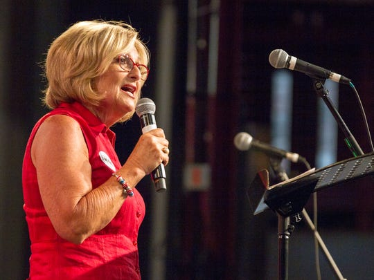 U.S. Rep. Diane Black, a Republican candidate for Tennessee governor, speaks at a fundraiser in Franklin on Aug. 6, 2017.