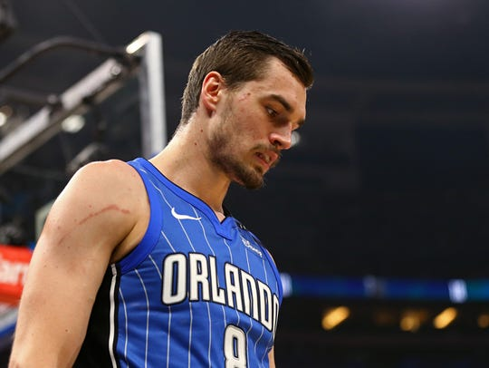 Mario Hezonja during a game against the Atlanta Hawks.