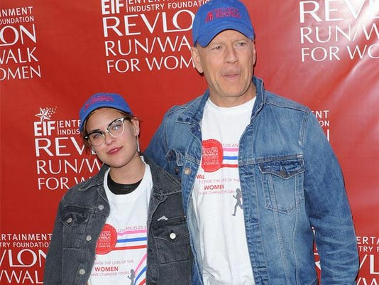 Tallulah Willis with father Bruce Willis