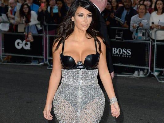 Kim at the GQ Awards