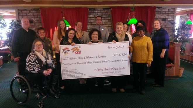 The Interfaith Hospitality Center at Elmira Correctional Facility recently received a $1,000 donation from Pizza Hut's Raising Dough for Kids grant program.