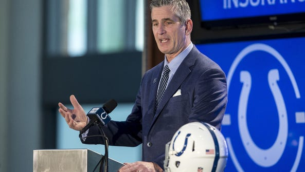 Frank Reich was introduced Tuesday as the Indianapolis