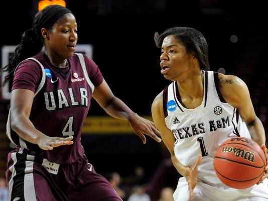 NCAA Womens Basketball: NCAA Tournament-First Round-UALR Trojans vs Texas A&M Aggies