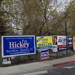 Keep political signs off Nevada state road property or face hefty fine