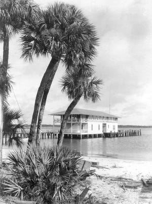 St. Lucie River Yacht Club in 1918 after it opened.