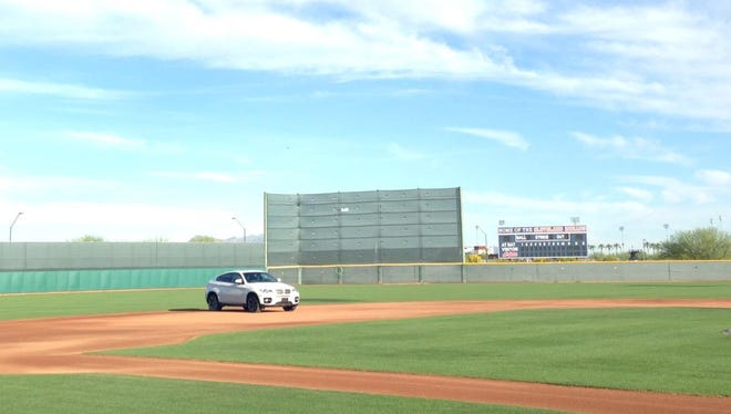 Jose Ramirez's car ended up at shortstop.