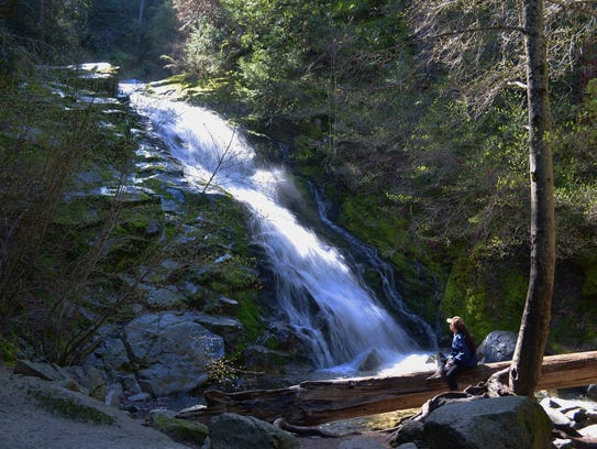 Whiskeytown Falls is one of the four falls featured