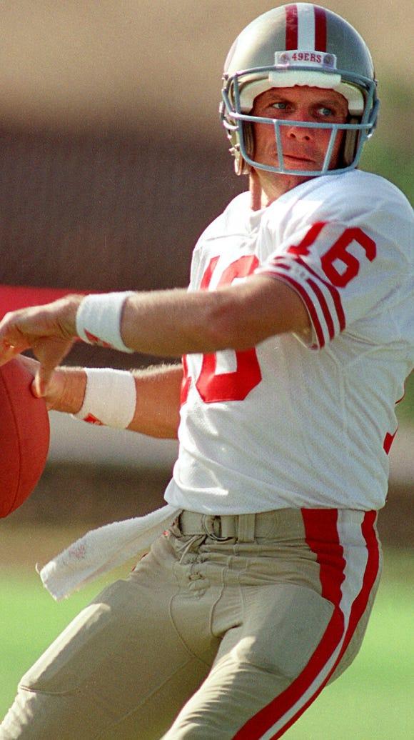 Joe Montana led the San Francisco 49ers on an 11-play,