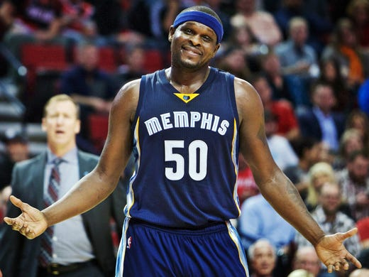 buy online a16be 882bd Grizzlies: Zach Randolph offers warm greetings as Marc Gasol ...