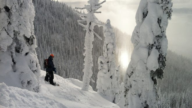 Mac Gordon, of Whitefish, makes his way down a run in the backcountry. Gordon uses a splitboard, which can be set up as a snowboard or as skis, to access the backcountry.  Photo by Strohm Fouty Mac Gordon, of Whitefish, makes his way down a run in the backcountry. Gordon uses a splitboard, which can be set up as a snowboard or as skis, to access the backcountry.