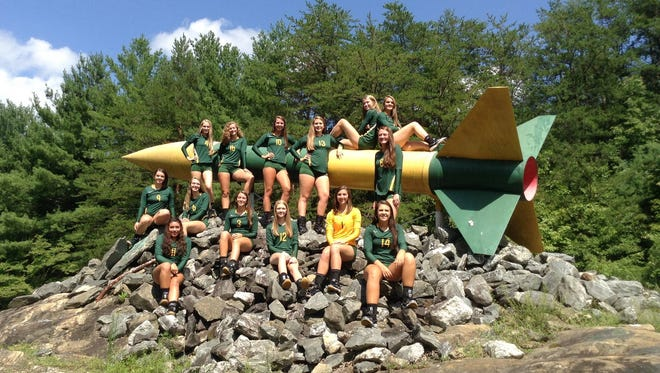 The Reynolds volleyball team.